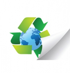 world recycle vector image vector image