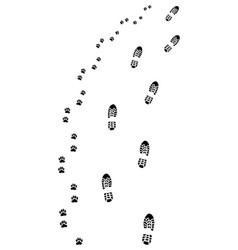 footprints turn right vector image