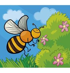 honey bee cartoon vector image