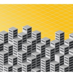 Isometric background vector image vector image