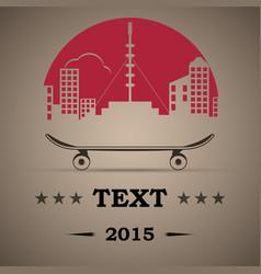 skate park icon skateboard logo vector image