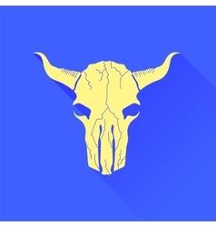 Skull of bull icon vector