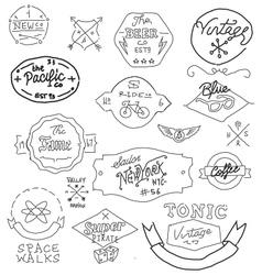 Vintage hand drawn logos vector image vector image