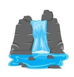 Waterfall amongst stone vector image
