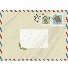 christmas airmail vector image