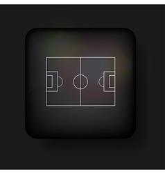 Football field icon vector image