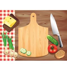 kitchen board background vector image