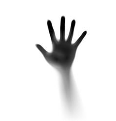open hand in the mist of designer vector image vector image