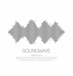 sound wave monochrome soundwave icon logo vector image