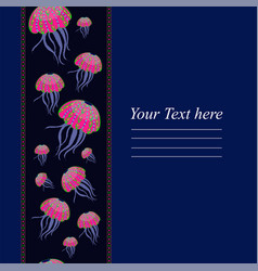 templates with the colored jellyfish for your vector image