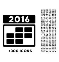 2016 Organizer Grid Icon vector