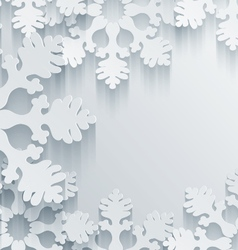 3D Snowflakes Background vector image