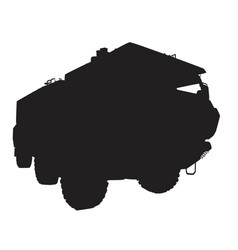 armored vehicle vector image