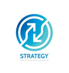 arrows in circle - logo template concept vector image
