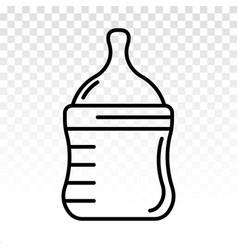 Baby milk bottle line art icon for apps vector