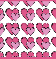 Beauty hearts a romance decoration background vector