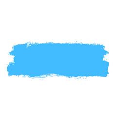 Blue paint brush stroke vector