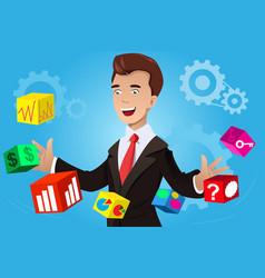 businessman having an idea concept vector image