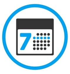Calendar Week Rounded Icon vector