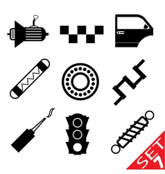 Car part icon set 7 vector