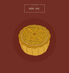 chinese cuisine moon cake sketch vector image