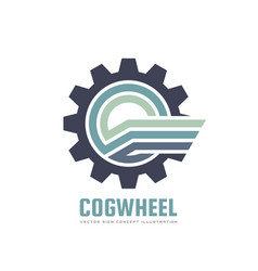 cogwheel - concept business logo template vector image