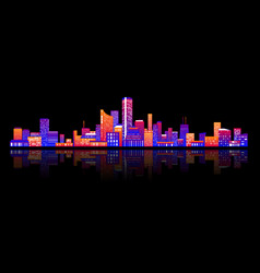 colorful various buildings vector image