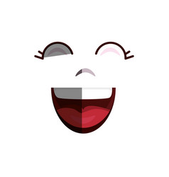 comic face smile icon vector image