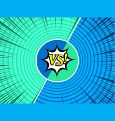 comic versus light background vector image