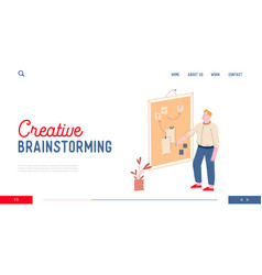 creative brainstorming website landing page vector image