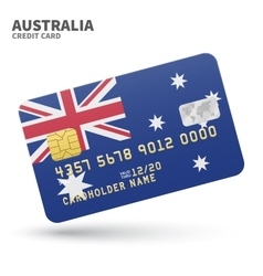 Credit card with Australia flag background for vector