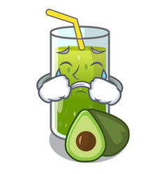 crying avocado smoothies are isolated on vector image