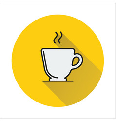 Cup simple icon on circle background vector