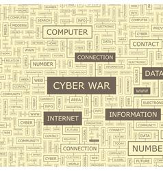 CYBER WAR vector image