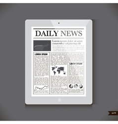 Daily News on generic Tablet PC vector