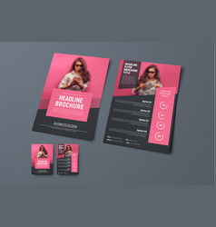 design the front and back pages of the brochure vector image