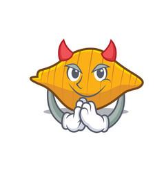Devil conchiglie pasta mascot cartoon vector