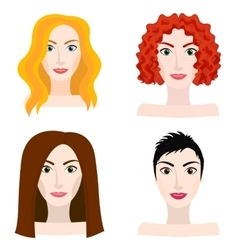 Different types of woman and girl appearance vector