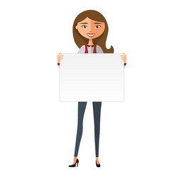 european business woman holding board vector image