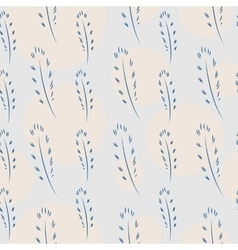 Feathers and Circles Seamless Pattern vector