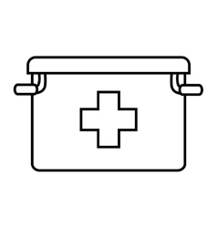 First aids suitcase icon vector