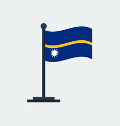 flag of nauruflag stand vector image