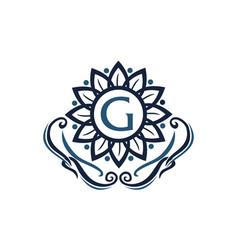 flower elegance initial g vector image