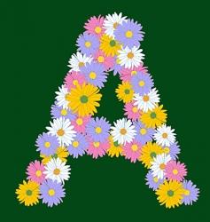 Flower letter vector