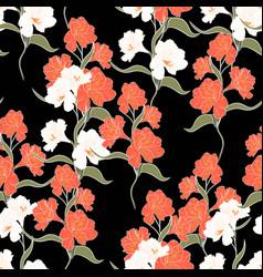 Flower seamless pattern with alstroemeria vector