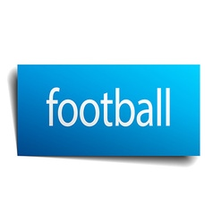 football blue paper sign on white background vector image