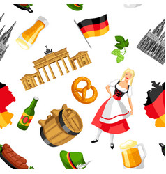 german seamless pattern germany national vector image