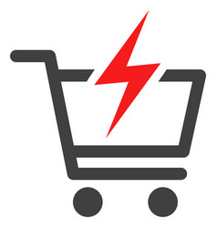 Instant shopping flat icon symbol vector