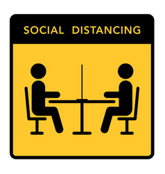 Keep a social distance in restaurants and cafes vector