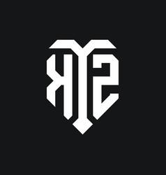Kz logo monogram design template vector